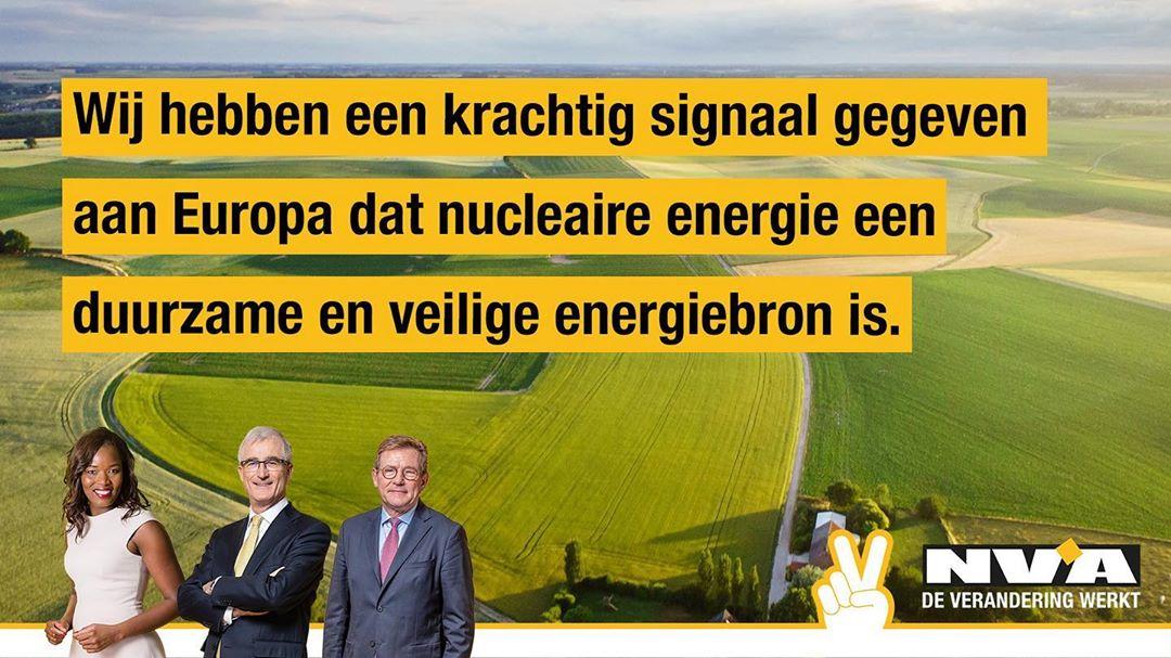 N-VA zorgt ervoor dat kernenergie op Europese klimaatagenda blijft