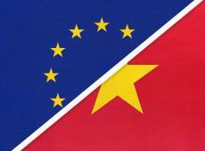 Europese en Vietnamese vlag