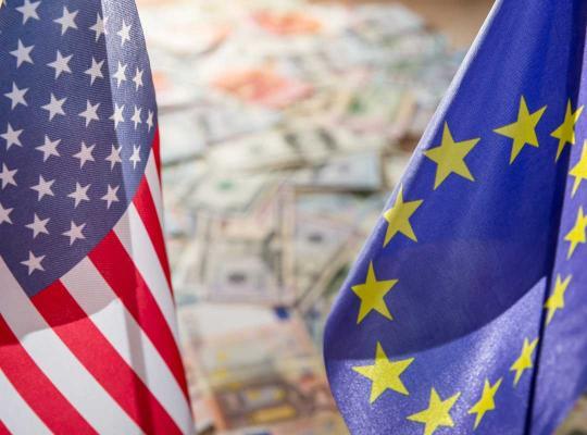 Vlaggen VS en Europa