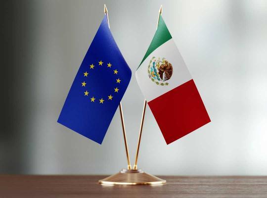 EU-vlag en Mexicaanse vlag