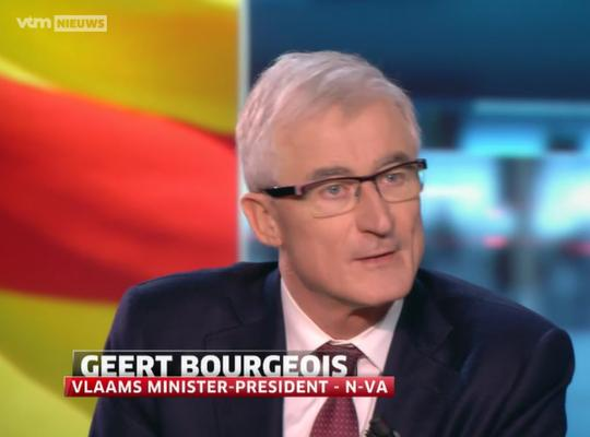 Geert Bourgeois in VTM Nieuws