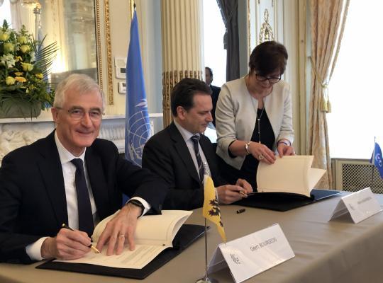 Ondertekening UNRWA