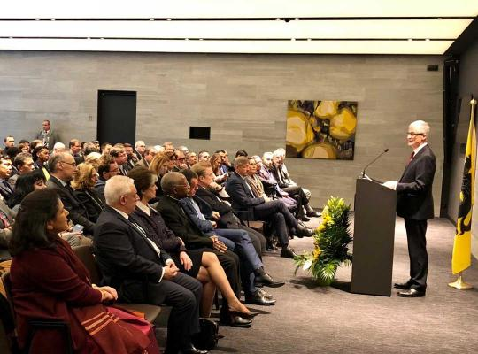 Toespraak minister-president Geert Bourgeois aan het diplomatiek korps